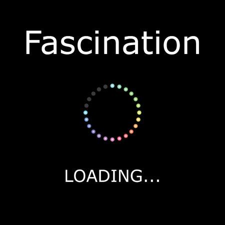fascinação: A ilustração carregando com fundo preto - Fascination