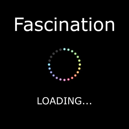 positiveness: A LOADING Illustration with Black Background - Fascination Stock Photo