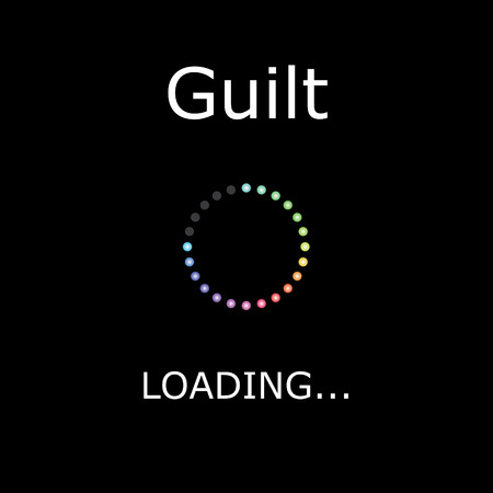 A LOADING Illustration with Black Background - Guilt