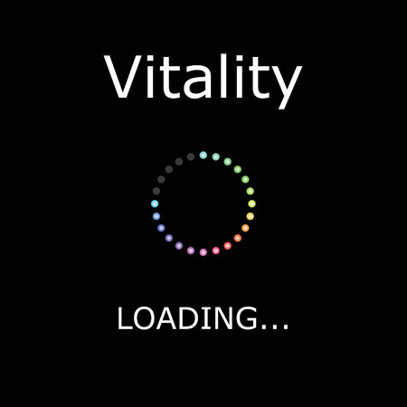 A LOADING Illustration with Black Background - Vitality