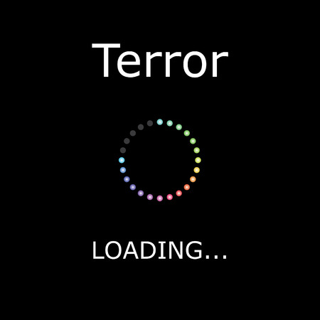 terror: A LOADING Illustration with Black Background - Terror