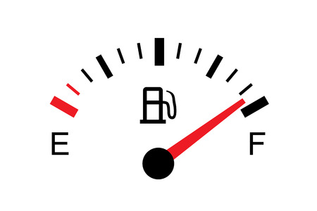 White gas tank illustration on white - Full