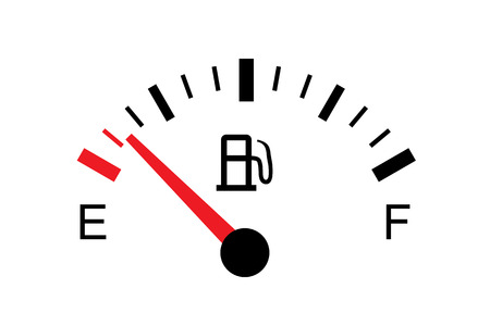 White gas tank illustration on white - Empty