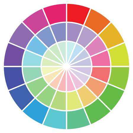 Illustration - Colour guide set of Swatches Stock Photo