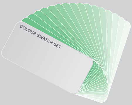 swatches: Illustration - Colour guide set of Swatches Stock Photo