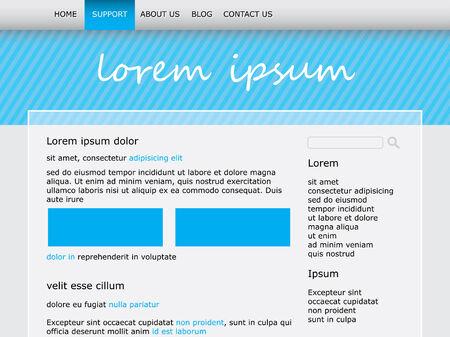 A Website template design photo