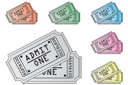 film role: An Illustration of Tickets in Various Colours