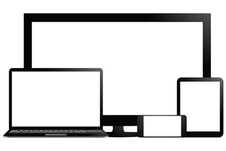 Fully responsive design Vector