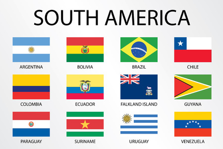 world flags: Alphabetical Country Flags for the Continent of