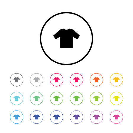 brown shirt: An Icon Illustration with 18 Color Variations - T Shirt