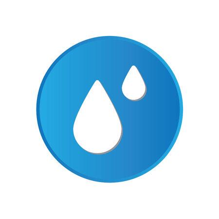 rain drop: Colorful square buttons for website or app - Rain Drop Illustration