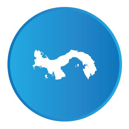 bandera panama: Bot�n 3D con el contorno del pa�s de Panam� Vectores