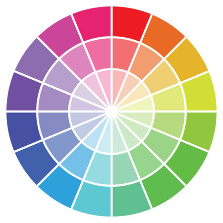 Illustration - Colour guide set of Swatches 向量圖像
