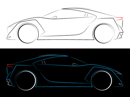 coupe: An Illustration of Outlines of Cars
