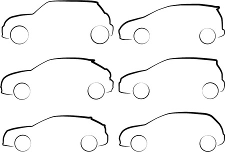 minivan: An Illustration of Outlines of Cars