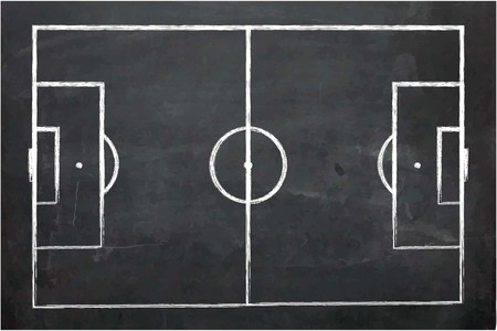 An Illustration of Chalk Board with drawing Illustration