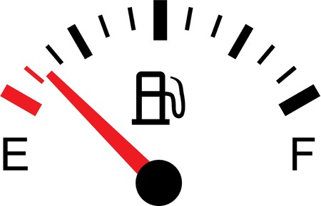 A White gas tank illustration on white - Empty Ilustracja