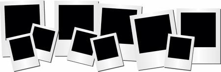 Illustrated Retro photo frame on white background Illustration