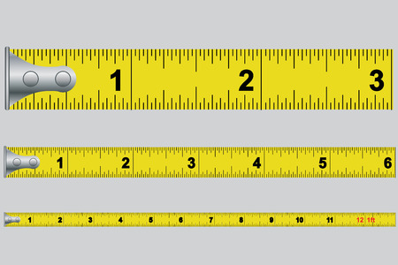 An Illustrated Tape measure in inches