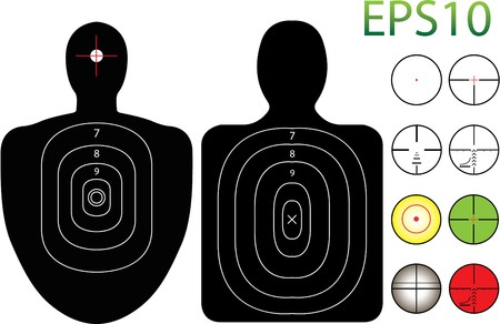 targets: An Illustration of Targets with a Selection of Recticles