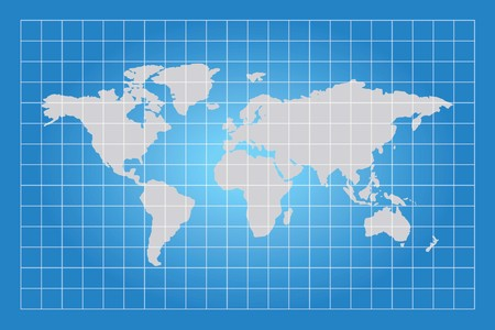 extruded: A Map of the world with squared boxes