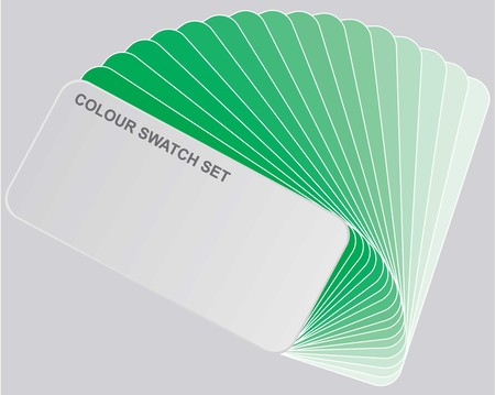 An Illustration - Colour guide set of Swatches