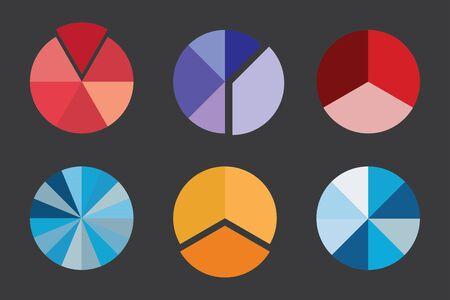 grafica de pastel: Un Colorido Gráfico de sectores del asunto para sus documentos, informes y presentaciones