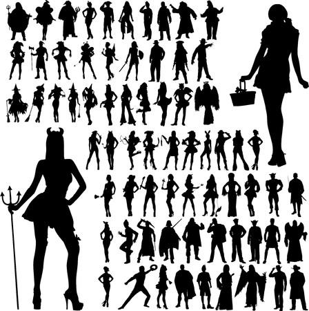 Een illustratie van de Speciale Gelegenheid Outfits Stock Illustratie