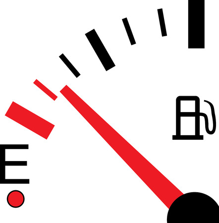 An Illustration of a Fuel Gauge on White Background