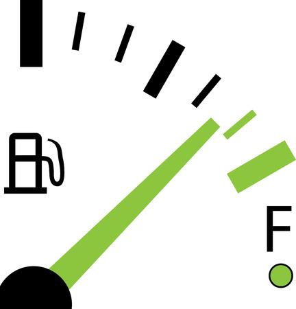 Een illustratie van een brandstofmeter op witte achtergrond Stockfoto - 31011298