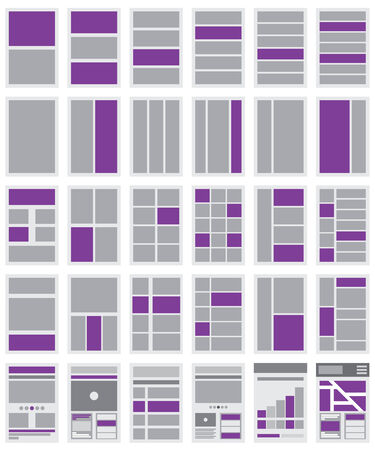An Illustration of Website Flowcharts and Site Maps Vector