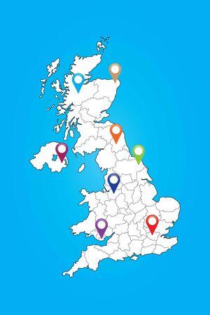 humanismo: Una Muestra el mapa del Reino Unido