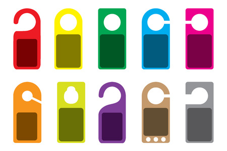 An Illustration of blank colourful Do Not Disturb Signs