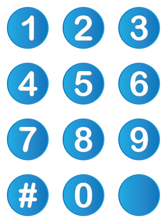 An Illustrated set of buttons with numbers on