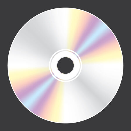blueray: A Blank Compact Disc isolated on black background