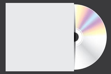 blu ray: A Blank Compact Disc isolated on black background with case Stock Photo
