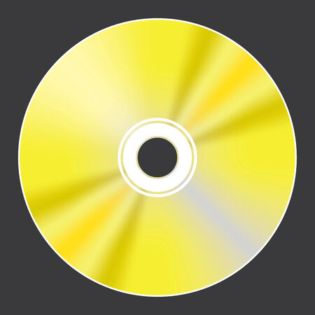 blu ray: A Blank Compact Disc isolated on black background