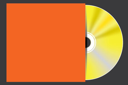 blueray: A Blank Compact Disc isolated on black background with case Stock Photo