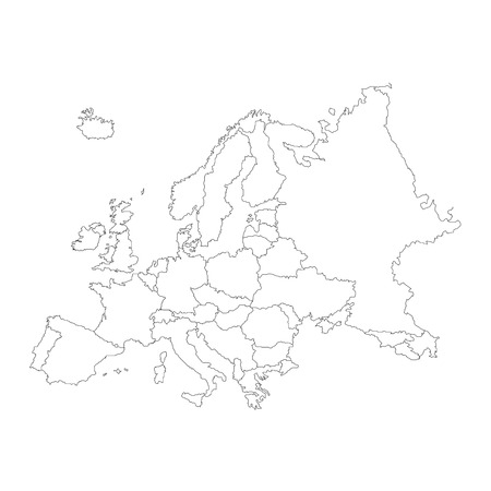 Outline Map Of Country Of Portugal In Black Isolated On White - Blank map of continental us