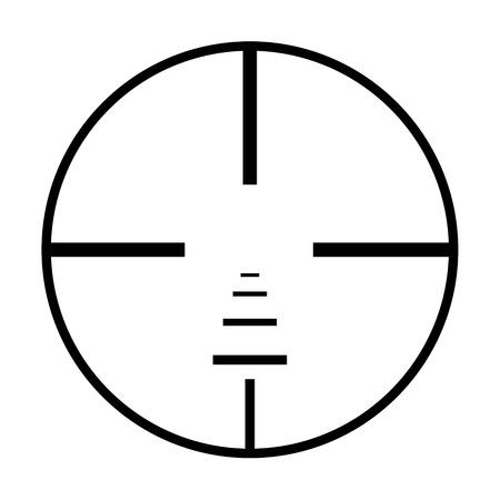 Illustrated Isolated crosshairs on white background photo