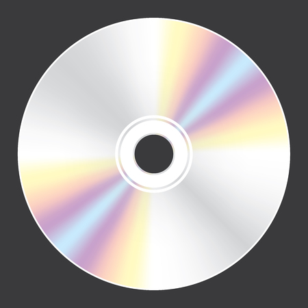 A Blank Compact Disc isolated on white background