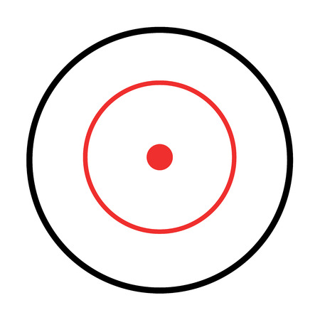 backsight: Illustrated Isolated crosshairs on white background