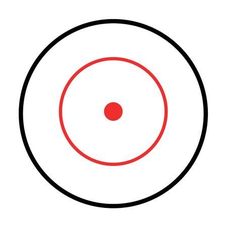 telescopic: Illustrated mira aislado en el fondo blanco