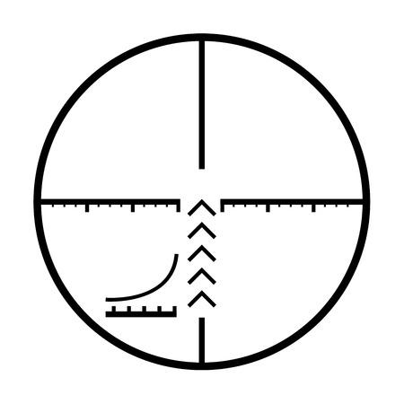 reticle: Illustrated Isolated crosshairs on white background
