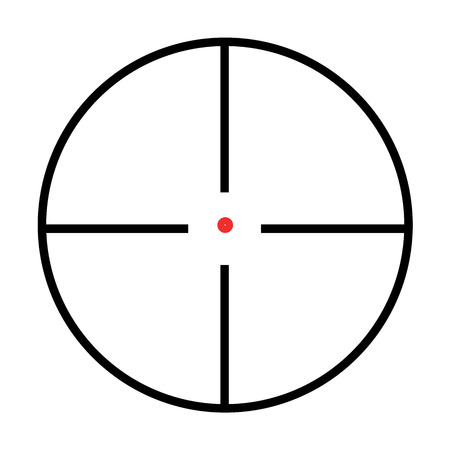 Illustrated Isolated crosshairs on white background