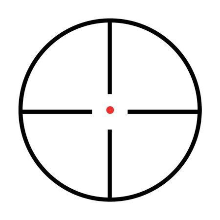 Illustrated Isolated crosshairs on white background