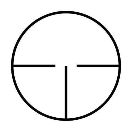 backsight: Illustrated Isolated crosshairs on white background