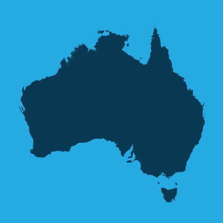 2d map: An Illustration of the continents of the world on white background - Australia