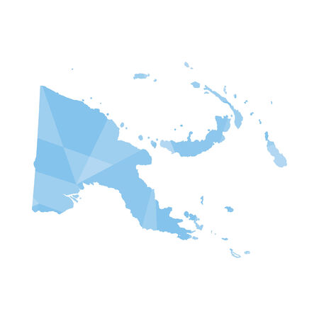 papouasie: Une illustration d'un contour color� rempli de Papouasie-Nouvelle Guiena