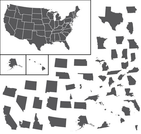 A Map of the the United States of America Vector